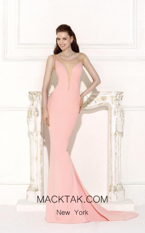 Tarik Ediz 92456 Back Pink Dress