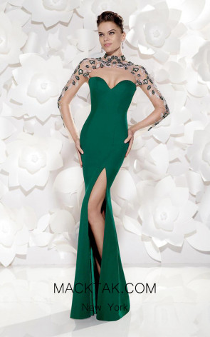 Tarik Ediz 92486 Front Green Dress