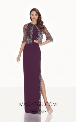 Tarik Ediz 92663 Front Plum Dress