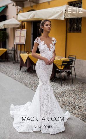 Tarik Ediz 93626 Ivory Front Dress