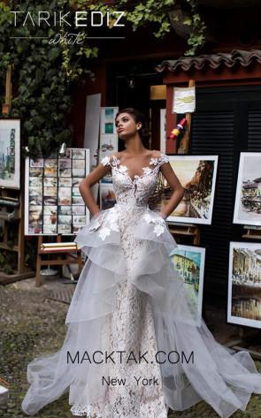 Tarik Ediz 93629 Ivory Front Dress