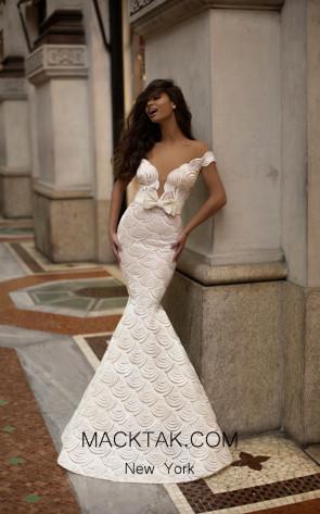 Tarik Ediz 93724 Ivory Front Dress