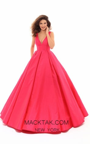 Tarik Ediz 50402 Red Front Prom Dress