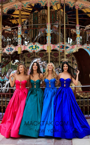 Tarik Ediz 50478 Colorfull Prom Dress
