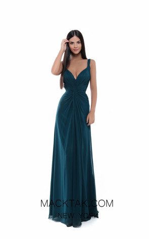 Tarik Ediz 50486 Emerald Front Prom Dress
