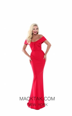 Tarik Ediz 50524 Red Prom Dress