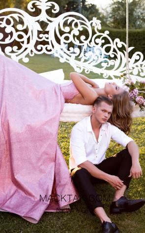 Tarik Ediz 50549 Pink Prom Dress