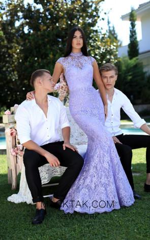 Tarik Ediz 50553 Lilac Front Prom Dress