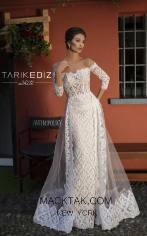 Tarik Ediz 93607 Ivory Front Prom Dress