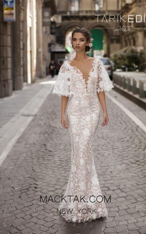 Tarik Ediz 93616 Ivory Front Prom Dress