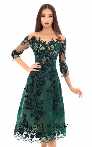 Tarik Ediz 93667 Emerald Front Dress