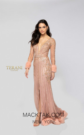 Terani 1911GL9499 Rose Gold Front Pageant Dress