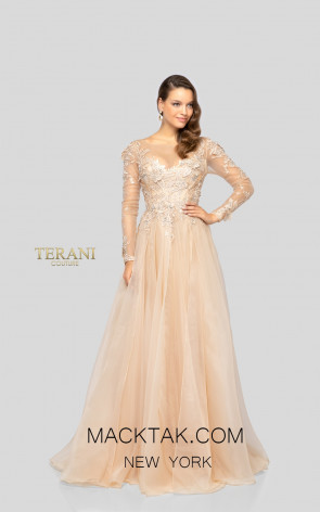 Terani 1911M9317 Mother of Bride Stone Front Dress