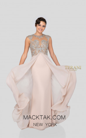 Terani 1911M9332 Champagne Front Mother of Bride Dress