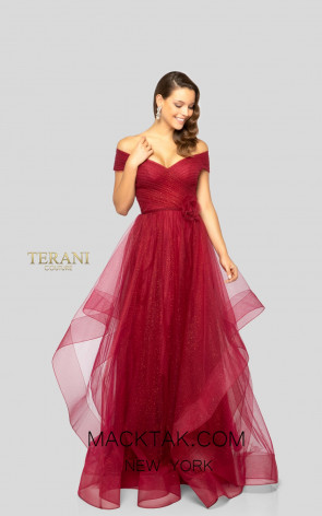 Terani 1911M9665 Ruby Front Mother of Bride Dress
