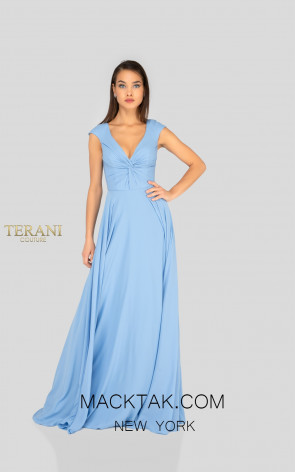 Terani 1912B9695 Bridesmaid French Blue Front Dress