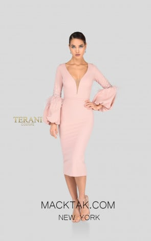 Terani 1912C9643 Blush Front Cocktail Dress