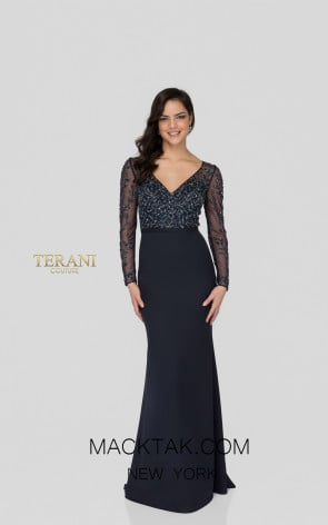 Terani 1912M9352 Midnight Front Mother of Bride Dress