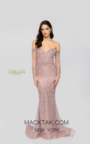 Terani 1913GL9587 Blush Nude Front Pageant Dress