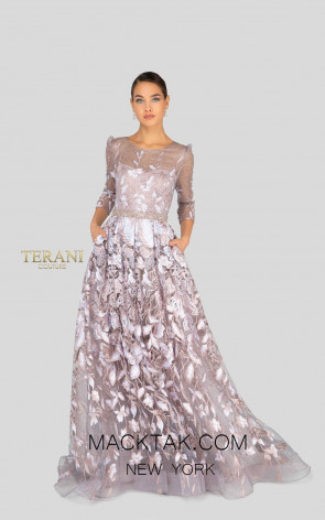 Terani 1913M9408 Mother of Bride Blush Front Dress