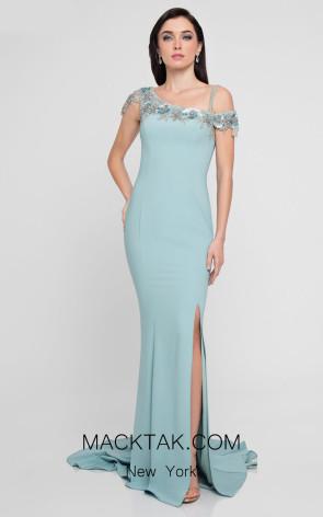 Terani 1813E6341 Sage Front Dress