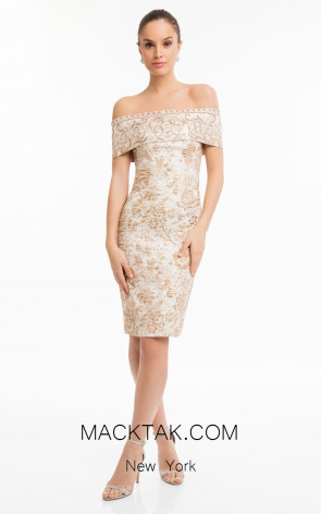 Terani 1821C7031 Rose Gold Front Dress