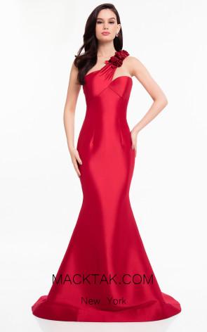 Terani 1821E7106 Red Front Dress