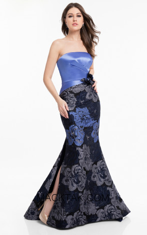 Terani 1821E7136 Navy Royal Silver Front Dress