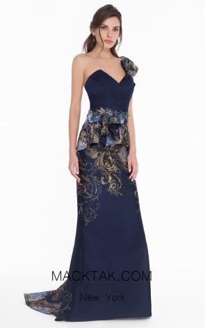 Terani 1821E7159 Navy Front Dress