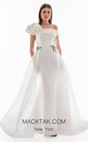 Terani 1821E7100 Ivory Front Dress