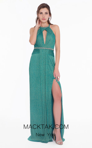 Terani 1821E7119 Emerald Front Evening Dress
