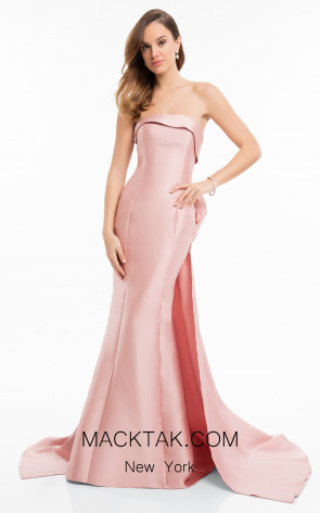 Terani 1821E7121 Rose Front Evening Dress