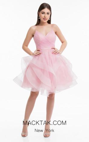 Terani 1821H7770 Blush Front Evening Dress