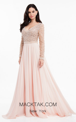 Terani 1821M7590 Blush Front Evening Dress
