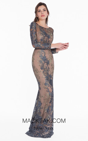 Terani 1822E7292 Gunmetal Gold Dress