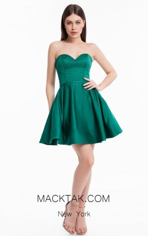 Terani Couture 1822H7826 Emerald Front Dress