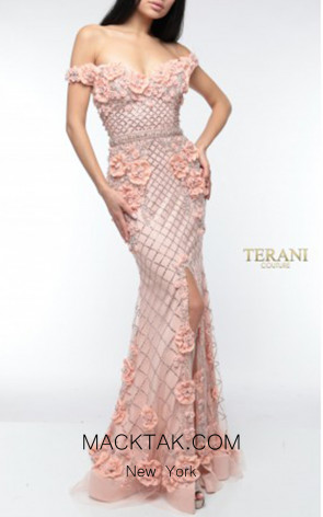 Terani Couture 1922GL0682 Front Dress