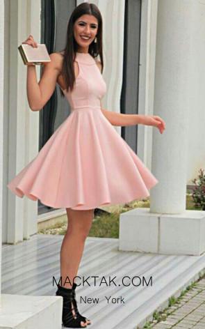 TK AS127 Pink Evening Dress