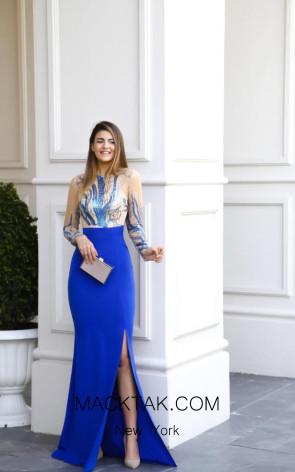 TK AS132 Blue Evening Dress