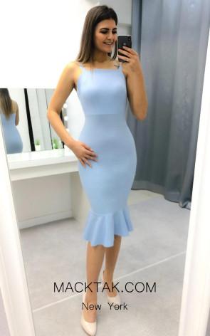 TK AS134 Aqua Evening Dress