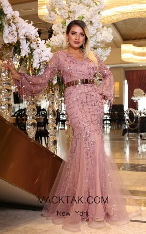 TK DA023 Pink Front Dress