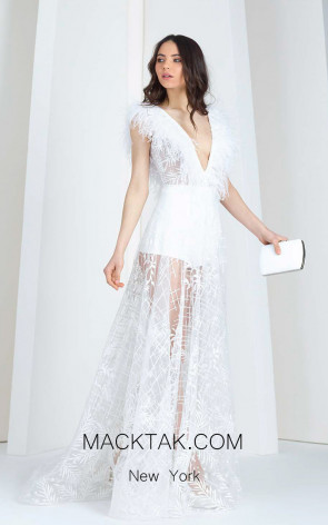 Tony Ward 06 White Front Evening Dress