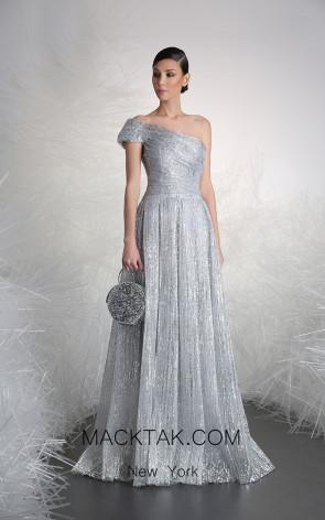 Tony Ward 10 Silver Front Evening Dress