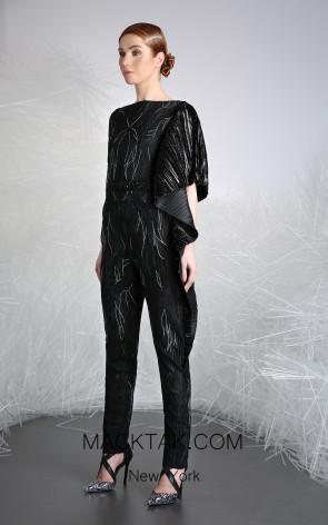 Tony Ward 16 Black Front Evening Dress