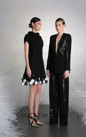 Tony Ward 22B Black Front Evening Dress