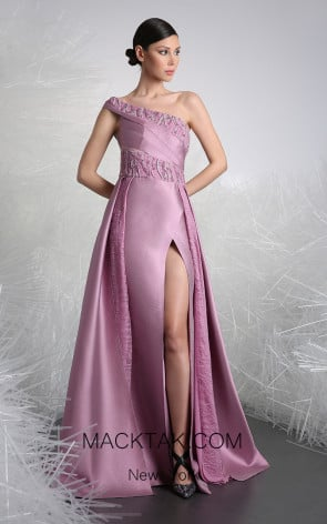 Tony Ward 30 Purple Front Evening Dress