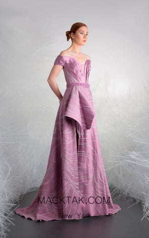 Tony Ward 31 Purple Front Evening Dress