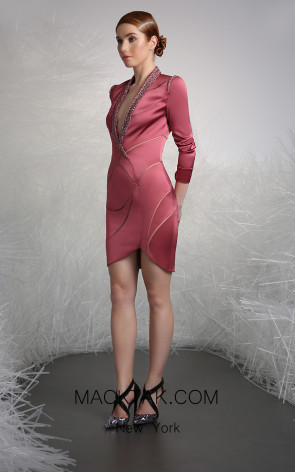 Tony Ward 49 Pink Front Evening Dress