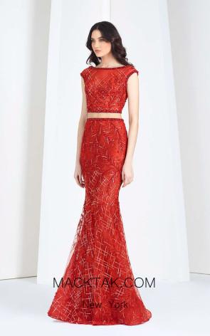 Tony Ward FW49 Red Front Evening Dress