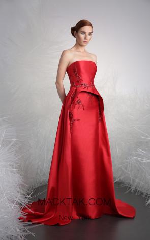 Tony Ward 05 Red Front Evening Dress